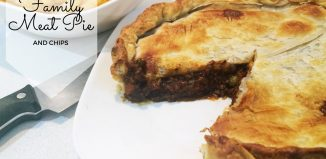 home made family meat pie