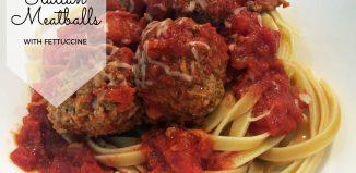 italian meatballs with fettuccine