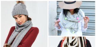 pom pom scarves