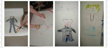 body tracing art craft