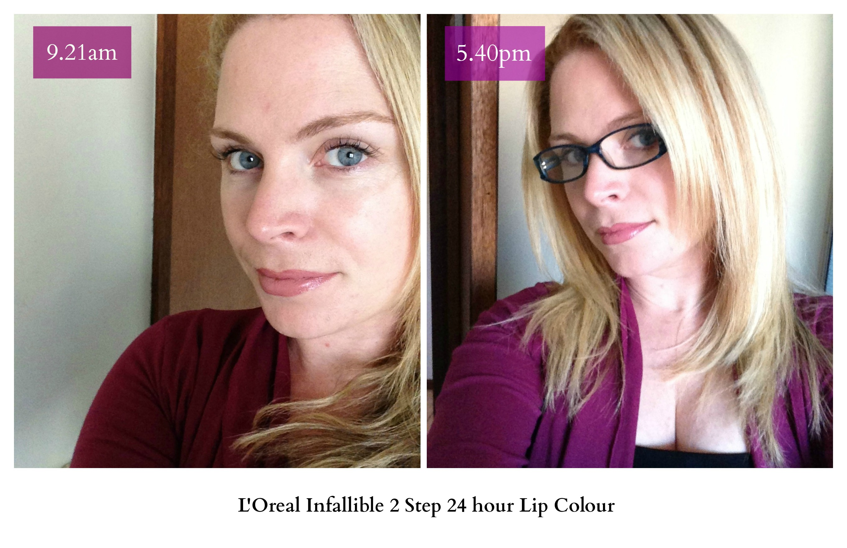 loreal infallible 2 step lipstick review longwear