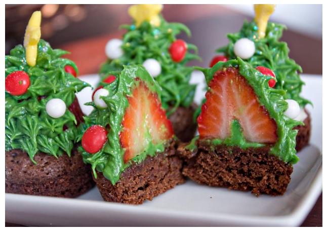 Erica s Sweet Tooth Strawberry Christmas Tree Brownie Bites