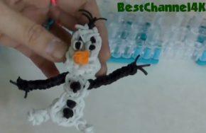 Rainbow Loom band Charms OLAF frozen Charm - Rainbow Loom Tutorial - How To Design on Rainbow Loom - YouTube