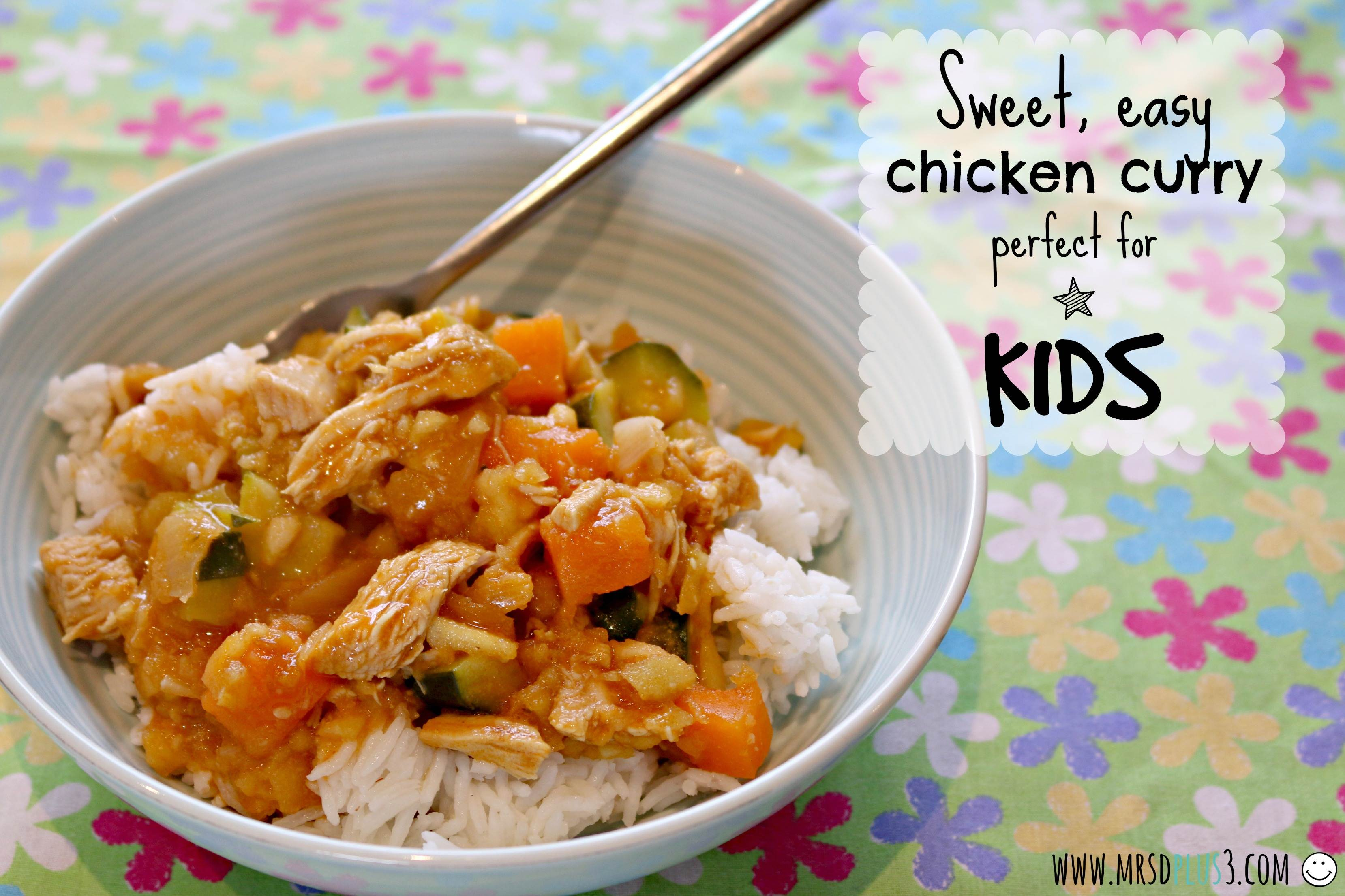 Sweet Easy Chicken Curry For Kids