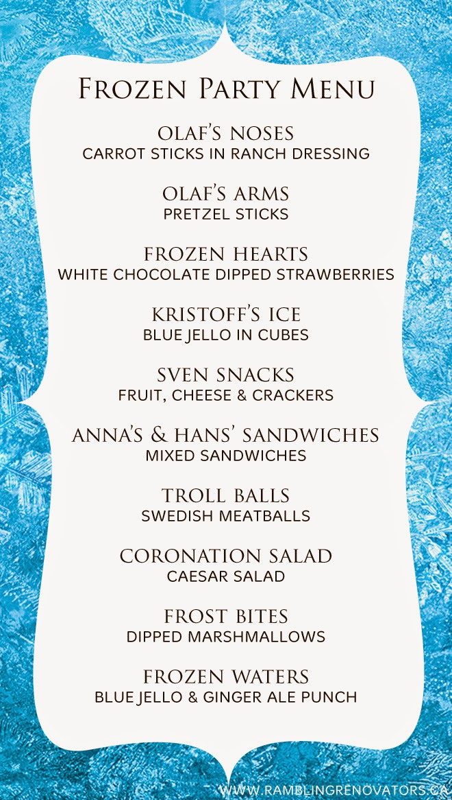 How To Throw The Perfect Frozen Themed Birthday Party! - Mum\'s Lounge