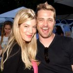 """Tori Spelling and Jason Priestley during """"Silver Spoon Dog and Baby Buffet"""" Benefitting Much Love Animal Rescue - Day One at Private Residence in Beverly Hills, California, United States. (Photo by Jean-Paul Aussenard/WireImage for Silver Spoon (formerly The Cabana))"""