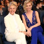 LOS ANGELES, CA - JANUARY 07: TV personality Ellen DeGeneres (L) and actress Portia de Rossi attend The 41st Annual People's Choice Awards at Nokia Theatre LA Live on January 7, 2015 in Los Angeles, California. (Photo by Christopher Polk/Getty Images for The People's Choice Awards)