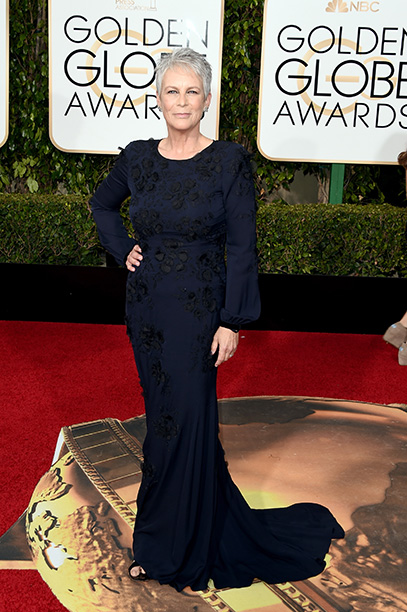 BEVERLY HILLS, CA - JANUARY 10: Actress Jamie Lee Curtis attends the 73rd Annual Golden Globe Awards held at the Beverly Hilton Hotel on January 10, 2016 in Beverly Hills, California. (Photo by Jason Merritt/Getty Images)