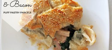 chicken bacon white wine puff pastry parcels