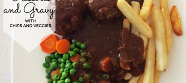 Traditional Rissoles and Gravy