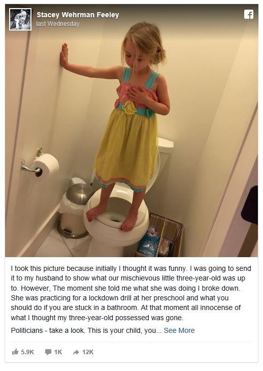 child standing on toilet seat