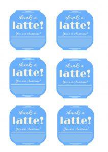 Thanks a latte! blue copy