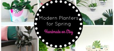 modern planters for spring