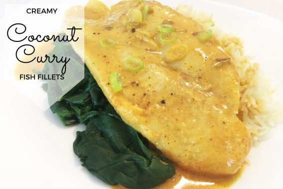 coconut curry fish fillets