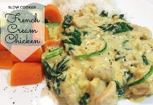 slow cooker French Cream chicken 01